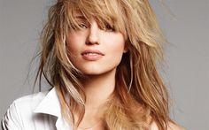 Descargar fondos de pantalla Dianna Agron, el maquillaje, la actriz estadounidense, retrato, mujer hermosa