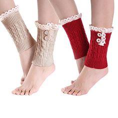 Well-Educated Womans Fall Boot Sock Knit Leg Warmers For Women Contrast Color Bohemia Leg Warmer L Stripe Warm Boot Cuffs Winter Leg Gaiter Women's Socks & Hosiery