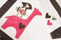 Personalized Organic Baby Blanket with Giraffe and by bankiebaby, $75.00