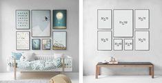 Billedvæg Inspiration | Sådan laver du en billedvæg! - ViSSEVASSE Gallery Wall Layout, Photo Wall Decor, Tv Wall Design, Modern Kitchen Design, Creative Decor, Living Room Modern, Poster Wall, Bedroom Decor, Inspiration