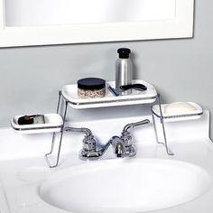 Over Faucet Shelf Bathroom Shelves Organizer Soap Tray Jewerly Storage Vanity - Shelves