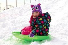 Addison McWilliams, 4, of #Wildwood has fun #sledding.
