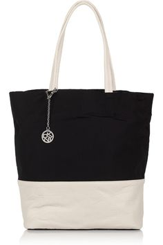 DKNY | Leather and nylon tote