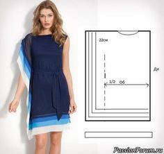 Если Вы так же являетесь сторонницей «чего-то попроще», то следующие идеи точно для Вас! Большинство либо вообще не требует выкроек, либо всего одну самую простую. 1)Красивое вечернее платье состоит всего из 5 деталей (при этом, 4 из них - лямки.