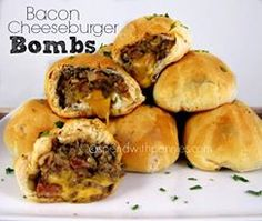 Recipe Submitted by: Spend with Pennies Click on the link below for the Bacon Cheeseburger Bombs recipe!  Bacon Cheeseburger Bombs