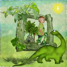 Dinosaur Scrapbooking | Dreaming of Dinosaurs... | Digital Scrapbooking at Scrapbook Flair