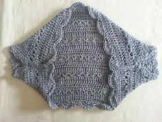 Springtime 'V' Shrug - free crochet pattern plus video by Rainbow Warrior.