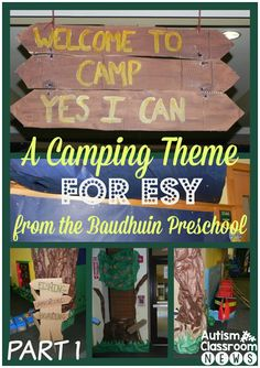 Autism Classroom News: A Camping Theme for ESY from the Baudhuin Preschool: Camp Yes I Can. Autism Classroom, New Classroom, Special Education Classroom, Classroom Themes, Classroom Resources, Classroom Design, Classroom Organization, Teaching Resources, Summer School Programs