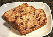 Best Banana bread, 1.5x the recipe is perfect to split between two loaf pans... also I add a full bag of choc. chips