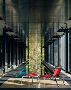Bohlin Cywinski Jackson - Farrar Residence - An infinity edge glass ended pool overlooking the forest - too cool