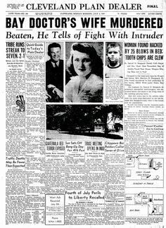 Dr. Sam Sheppard House | Sam Sheppard Murder Case Cleveland Rocks, Cleveland Ohio, Cincinnati, Historic Newspapers, Cuyahoga Falls, My Ohio, The Buckeye State, County Seat, Akron Ohio