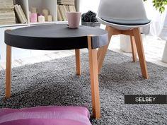 Stolik kawowy Twist czarny średnica 61 cm z tworzywa - idealny dla osób ceniących sobie wygodę i funkcjonalność Furniture, Home Decor, Decoration Home, Room Decor, Home Furnishings, Arredamento, Interior Decorating
