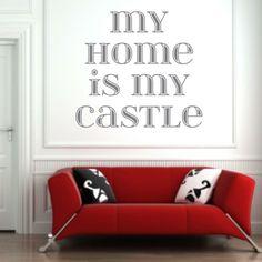 Naklejka - My home is my castle | Decorative sticker - My home is my castle | 32,49 PLN #wall_decal #sticker #homeismycastle #home_decor #pattern #home_decor #interior_decor #decor