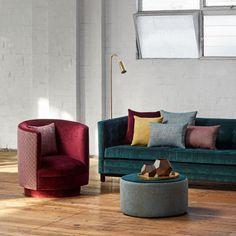 Acapulco   Warwick Fabrics Australia Velvet Upholstery Fabric, Satin Fabric, Warwick Fabrics, Cushions, Pillows, Geometric Designs, Restaurant Design, E Design, Australia