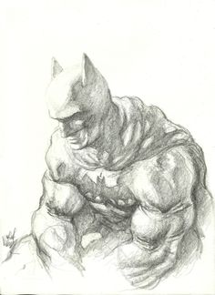Batman, pencil.