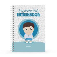 Cuaderno XL - Las notas del entrenador, encuentra este producto en nuestra tienda online y personalízalo con un nombre. Notebook, Cover, Notebooks, Report Cards, Training, Store, Physical Therapist, The Notebook, Exercise Book