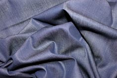 Navy Chambray Light Twill | Cotton Fabric | Calico Laine £5.99/m