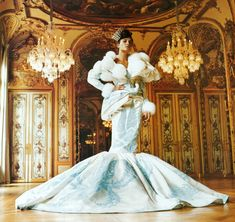 oh my ice blue mermaid gown!...  Crystal Ball | Town & Country November 2004 By John Huba Christian Dior | Fall 2004 Couture