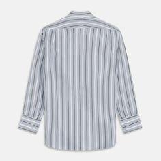Green Multi Stripe Regular Fit Shirt with T&A Collar & 3 Button Cuffs – Turnbull & Asser
