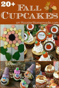 20 + Fall Cupcakes and a Few Extras    #fall #fallcupcakes #cupcakes