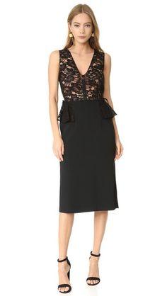TOME V Neck Peplum Dress. #tome #cloth #dress #top #shirt #sweater #skirt #beachwear #activewear