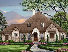 5 Beds With 4 Flanking The Foyer - 36422TX | European, Traditional, 1st Floor Master Suite, Bonus Room, Butler Walk-in Pantry, CAD Available, Jack & Jill Bath, PDF, Split Bedrooms, Corner Lot | Architectural Designs