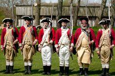 Redcoats drill training, Lexington Minute Company UK. Re-enactment at Avoncroft Museum (avoncroft.org.uk)