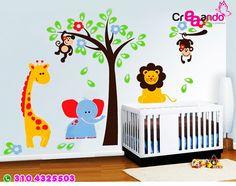 vinilos infantil : Girafa 1 mts alto mas info Cali 3104325503 Marcela