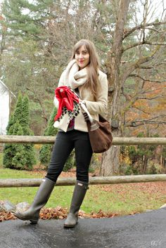 """""""Rain and Red"""" @Good Girl Style. I love Natalie´s cold weather inspired look! :)"""
