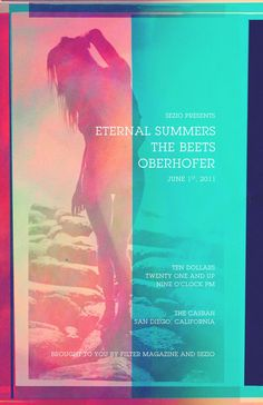 Poster photographed and designed for Filter Magazine and Sezio's summer opening show set.