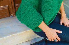 Oversized Chunky Sweater Cardigan . Cozy Green by InoriCreations