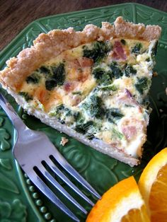 Bacon and Spinach Quiche - can take out crust & cheese for a Whole 30 Frittata