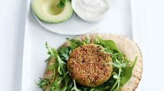 Quinoa and Chickpea Burgers | Whether you're vegetarian or not, it can be a healthy choice to go meatless sometimes–it often helps you save on cholesterol, fat, and calories, and a