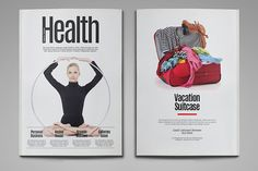 Health Magazine Template by thirtypath on @creativework247