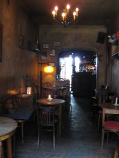 One of my favorite cafes, Eszeweria, in Kazimierz. - Krakow, Poland