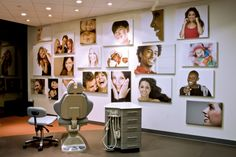 Smile Wall in the open bay treatment area for Park Meadows Orthodontics.