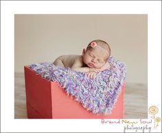 Baby Girl Blanket Photo Prop. Pastel Hand Knit by BabyBirdz
