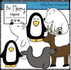 This FREEBIE includes 6 winter animal clips. All of the clipart is in .png format. Please check back often for more Freebies while I get my TpT store started. Thanks for downloading!!