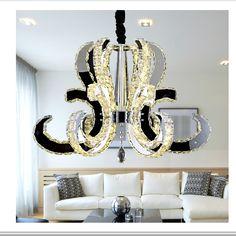Pas cher crystal light moderne lustre en cristal taille for Lustre pour salon moderne