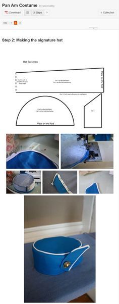 cosplay tutorial How to make a Pan Am Stewardess Hat