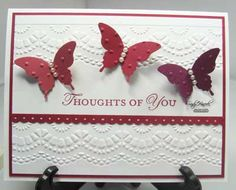 SU Loving Thoughts, Delicate Design E F, Elegant Butterfly and Dotted Scallop Border punches