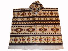 Native American Indian Pattern large hand made poncho with Hood by WigwamShop on Etsy Indian Patterns, Native American Indians, Trending Outfits, Unique Jewelry, Handmade Gifts, Etsy, Vintage, Kid Craft Gifts, American Indians