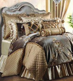 Jennifer Taylor 9 Pcs Comforter Set,Oversize Queen, LEGACY  Collection by Jennifer Taylor. Save 46 Off!. $1224.91. Legacy Collection. Includes 1 Comforter 93''X96'', 1 Bed Skirt 60''X80''+18'', 2 Euro Shams 26''X26'', 2 Standard Shams 20''X27'', 3 Decor Shams. Color: Taupe. Bedding Set. Fabric Material: Embroidered Velvet. Jennifer Taylor 9-piece Comforter Set, Oversize Queen, LEGACY Collection, Taupe, (Includes 1 Comforter 93''X96'', 1 Bed Skirt 60''X80''+18'', 2 Euro Shams...