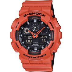 Casio G-Shock Military GA100L-4ACR Watch | Orange