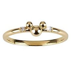 14-Kt. Gold and Diamond Mickey Mouse Ring from the Disney Dream Collection #Glimpse_by_TheFind