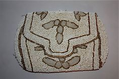 Vintage 30s Beaded Purse with mirror/ Hand made in by NuitHiboux, $45.00