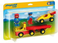 Playmobil 1.2.3 Raceauto met Transportwagen - 6761