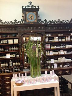 Saint Charles Apotheke in Wien Pharmacy Design, Paradigm Shift, Apothecary, Family Room, Restaurant, Table Decorations, Alchemist, Interior, Cabinets