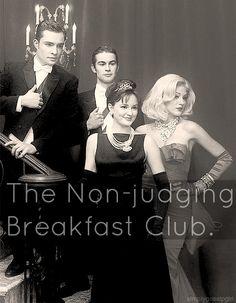 Chuck, Nate, Blair and Serena