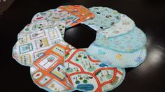 Baby Flannel Burp Cloth Gift Set 10 piece. by ohSEWcuddly on Etsy